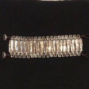Crystal studded cuff